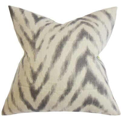 Quay Zigzag Linen Throw Pillow Color: Espresso, Size: 18 x 18