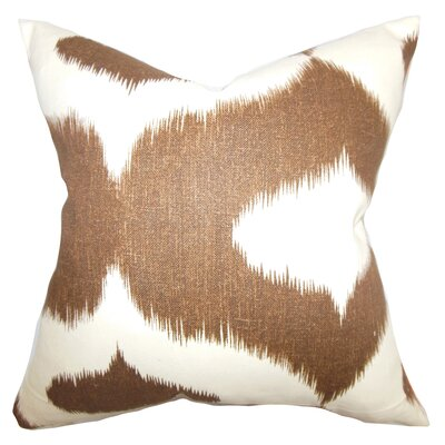 Brigida Ikat Throw Pillow Cover Size: 20 x 20, Color: Chocolate