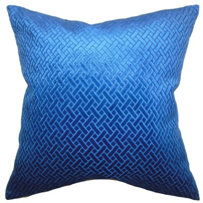 Brielle Solid Throw Pillow Cover Color: Blue Velvet
