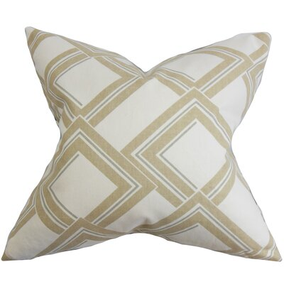 Jersey Geometric Bedding Sham Size: Standard, Color: Brown