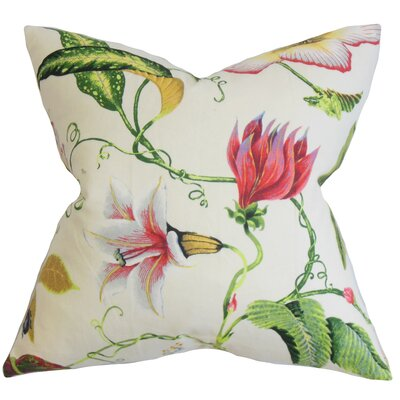 Conesville Floral Throw Pillow Cover Color: Pink