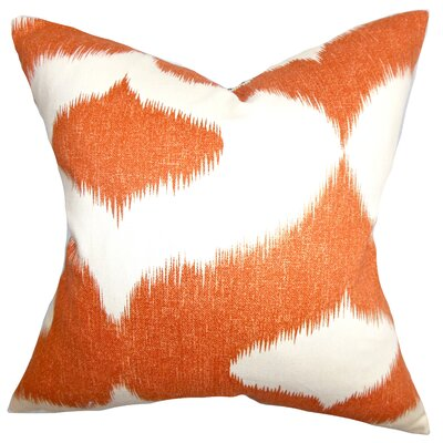Brigida Ikat Throw Pillow Cover Size: 18 x 18, Color: Chocolate