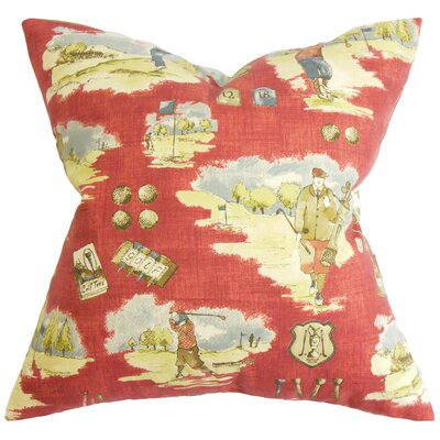 Alfreda Cotton Throw Pillow Color: Cranberry, Size: 24 x 24