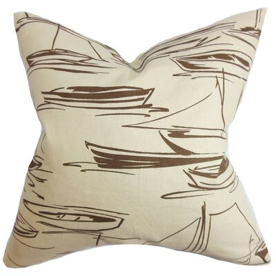 Gamboola Cotton Throw Pillow Color: Brown, Size: 24 x 24