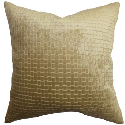 Brielle Solid Velvet Throw Pillow Color: Camel, Size: 18 x 18