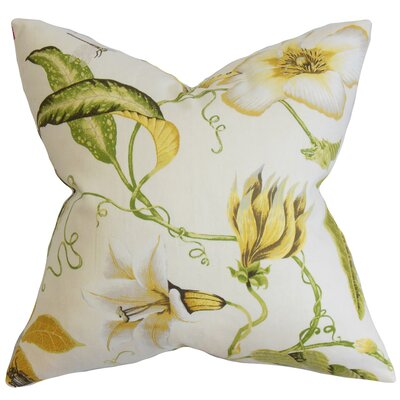 Conesville Floral Bedding Sham Size: Queen, Color: Yellow