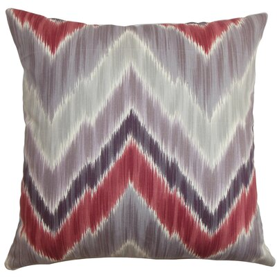 Caltha Zigzag Bedding Sham Size: Euro, Color: Plum Red