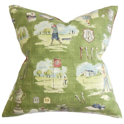 Alfreda Cotton Throw Pillow Color: Grass, Size: 24 x 24