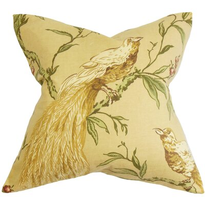 Jennifer Floral Throw Pillow Color: Autumn, Size: 18 x 18