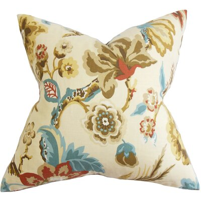 Pearse Floral Bedding Sham Size: King, Color: Natural