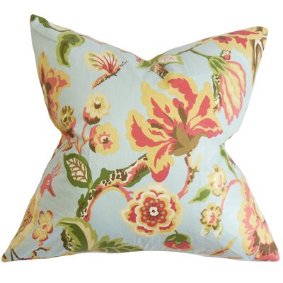 Pearse Floral Throw Pillow Color: Light Blue, Size: 24 x 24