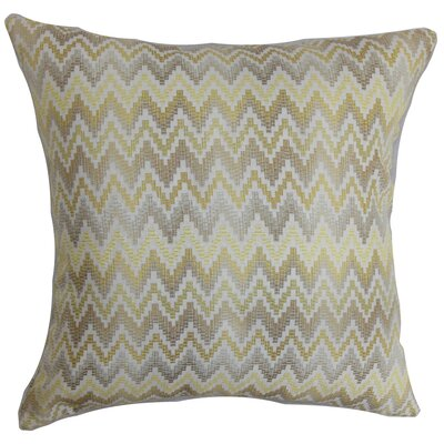 Yanira Zigzag Throw Pillow Cover Size: 20 x 20