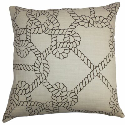 Accalia Cotton Throw Pillow Color: Natural / Black, Size: 18 x 18