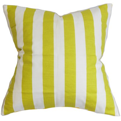 Ilaam Stripes Throw Pillow Cover Color: Green