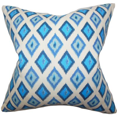 Ipomens Cotton Throw Pillow Color: Blue, Size: 18 x 18