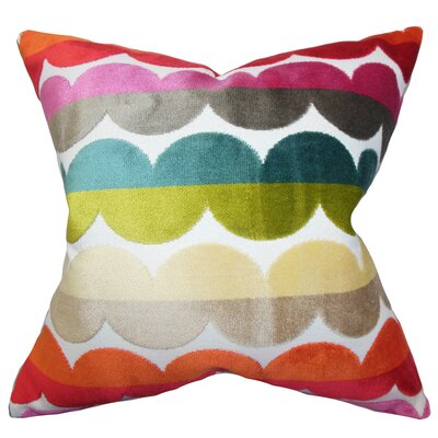 Xois Throw Pillow Color: Bold, Size: 22 x 22