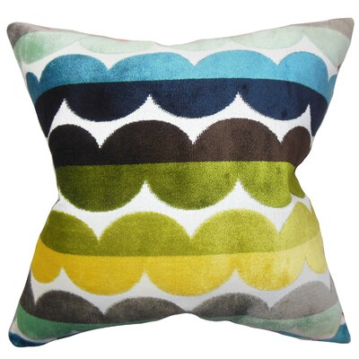 Xois Throw Pillow Color: Bright, Size: 18 x 18
