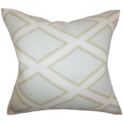 Alaric Geometric Cotton Throw Pillow Color: Opal, Size: 24 x 24