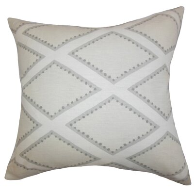 Alaric Geometric Cotton Throw Pillow Color: Gray, Size: 18 x 18