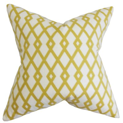 Lexington Geometric Cotton Throw Pillow Color: Citrine, Size: 18x18