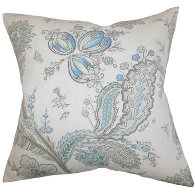 Dilys Floral Linen Throw Pillow Cover Color: Blue