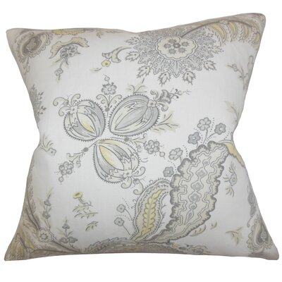 Dilys Floral Linen Throw Pillow Cover Color: Opal
