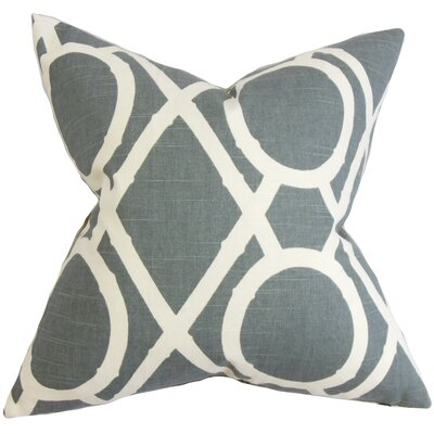 Whit Geometric Bedding Sham Color: Gray, Size: Queen