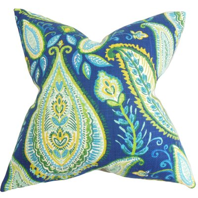 Jessica Floral Cotton Throw Pillow Size: 18 x 18