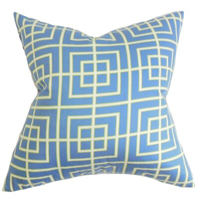 Helmut Geometric Cotton Throw Pillow Size: 18 x 18