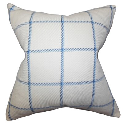 Wilmie Plaid Bedding Sham Size: Euro, Color: Blue
