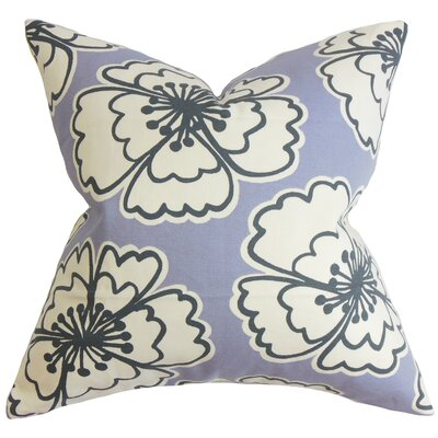 Winslet Floral Cotton Throw Pillow Color: Lavender, Size: 24 x 24