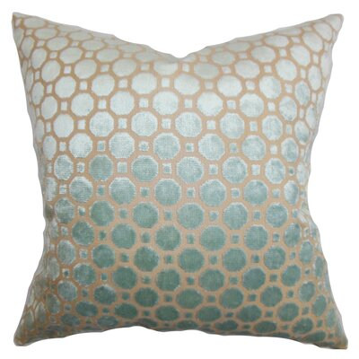 Maeve Geometric Cotton Throw Pillow Cover Color: Blue