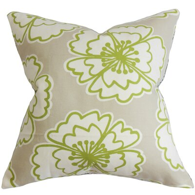 Burgoyne Floral Cotton Throw Pillow Cover Color: Gray