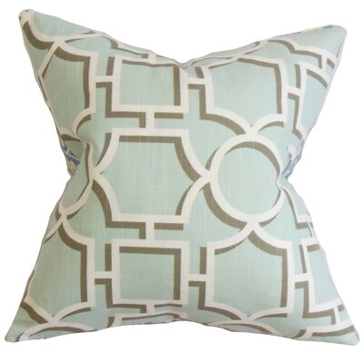 Bullins Geometric Bedding Sham Size: Queen, Color: Aqua