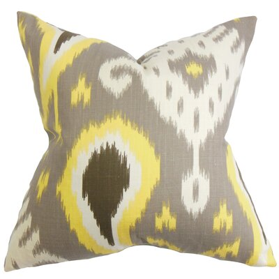 Bentshaya Ikat Throw Pillow Cover Color: Gray