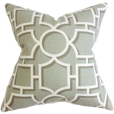 Bullins Geometric Throw Pillow Cover Color: Gray