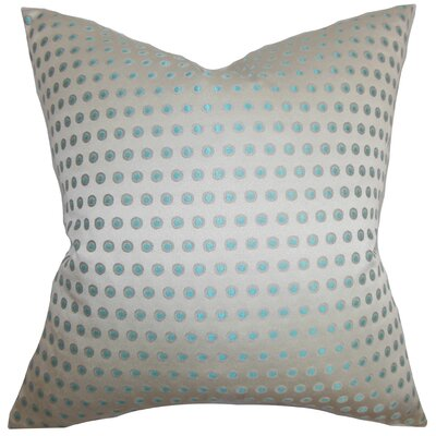 Radclyffe Cotton Throw Pillow Color: Gray Blue, Size: 18x18