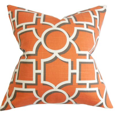 Bullins Geometric Throw Pillow Cover Color: Orange