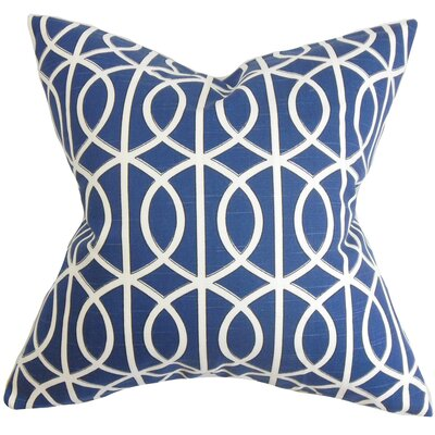 Lior Geometric Throw Pillow Cover Color: Blue