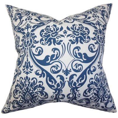 Mankin Damask Throw Pillow Cover Color: Navy Blue