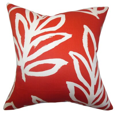 Razili Floral Cotton Throw Pillow Size: 18 x 18
