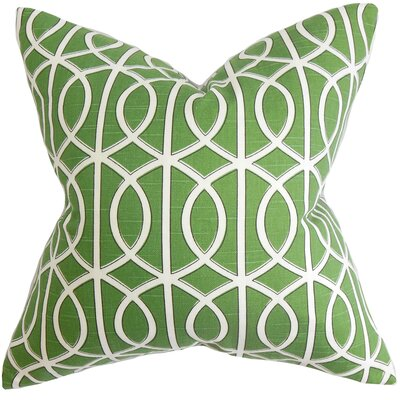 Willington 100% Cotton Throw Pillow Color: Watercress, Size: 18 H x 18 W