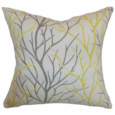 Fderik Trees Cotton Throw Pillow Cover Size: 18 x 18, Color: Canary