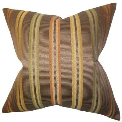 Dorsey Stripes Cotton Throw Pillow Size: 18 x 18