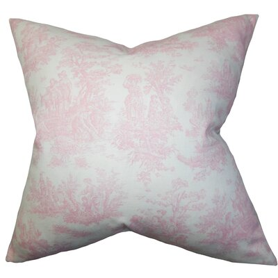 Lalibela Toile Throw Pillow Cover Color: Baby Pink