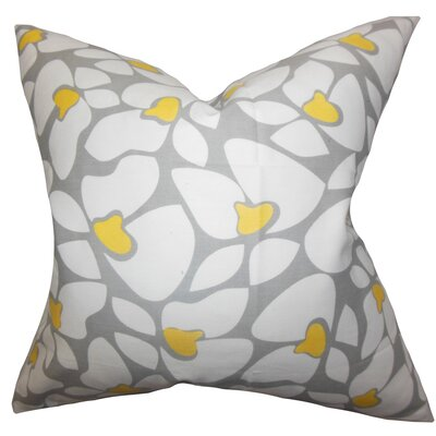 Buitron Geometric Cotton Throw Pillow Color: Storm Corn Yellow, Size: 24 x 24