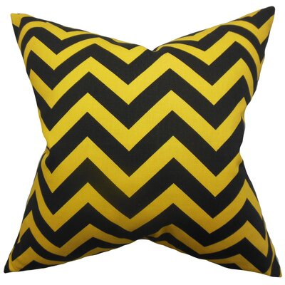Xayabury Zigzag Throw Pillow Cover Color: Black Yellow