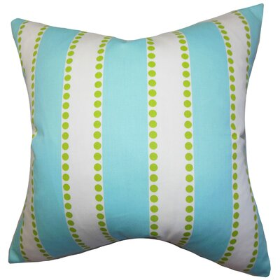 Odienne Stripe Cotton Throw Pillow Color: Blue, Size: 18 H x 18 W