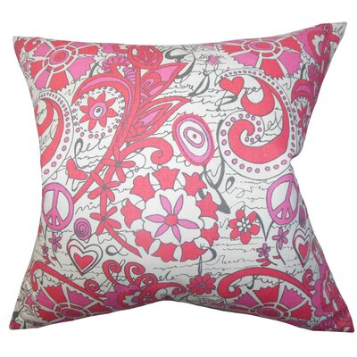 Adelpha Floral Cotton Throw Pillow Size: 22 x 22