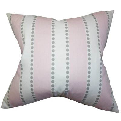 Odienne Stripe Cotton Throw Pillow Color: Pink, Size: 20 H x 20 W